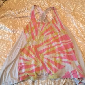 FREE PEOPLE flowy summer tank with mesh paneling